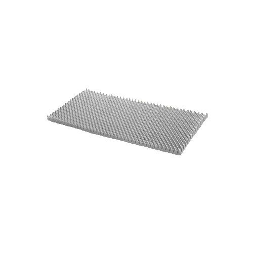 Eggcrate Convoluted Foam Bed Pads-32.5 x 71.5 x 4 inch,Base Height:1/4 inch,w Soft Sleeve,6/Case