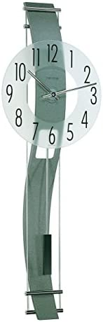 Hermle Clocks Kennington Frosted Mineral Glass Wall Clock w Curved Back Panel