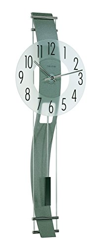 Hermle Clocks Kennington Frosted Mineral Glass Wall Clock w Curved Back ()