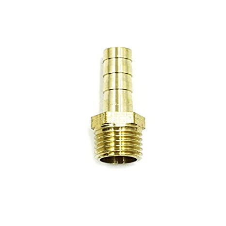 3 Pcs LICTOP 3//8 inch 3 Ways Y-Piece Brass Air Gas Hose Barb Connector Joiner Coupler Metal Gold