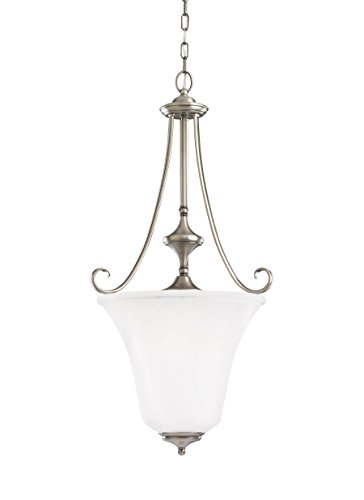 Sea Gull 51380EN-965 Parkview Pendant, 3-Light 27 Total Watts, Antique Brushed Nickel (965 Parkview 3 Light)
