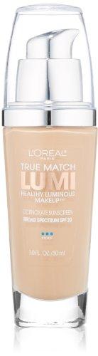 L'Oreal Paris True Match Lumi Healthy Luminous Makeup, Shell Beige, 1 fl. oz.