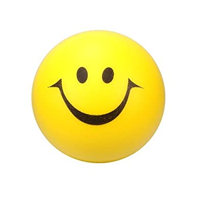 "12 ~ Yellow Smile Face Squeeze Balls ~ Approx. 2"" ~ New ~ Party Favors, Stress Balls, Soft Play Balls, Prizes: Toys & Games"