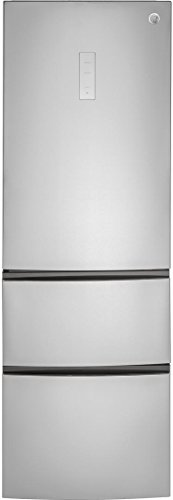 GE GLE12HSLSS 24 Inch Counter Depth Bottom Freezer Refrigerator in Stainless Steel