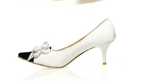 Fascino Del Piede Moda Archi Scarpe Da Donna Mary Jane Tacco Alto Scarpe Bianche