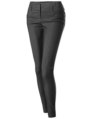 basic-office-slim-fit-tummy-control-stretch-full-length-pants-charcoal-size-s