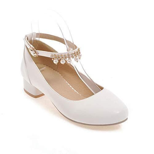 Compensées Blanc Sandales Femme SDC05552 AdeeSu RxEqpa