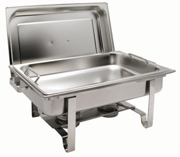 Get-A-Grip Chafing Dish with Special Safety Feature - Oblong 8 Qt.