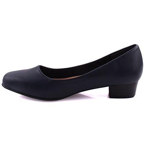 Unze Frauen Della Abend Soiree and Slip on Loafer UK Größe 3-8 - DYA006-3 Marine