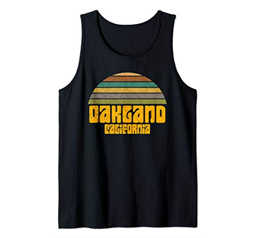 BACK TO SCHOOL VINTAGE 70s 80s STYLE OAKLAND CA Distressed  Tank Top