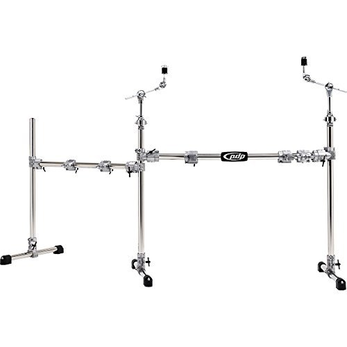 - Pacific Drums by DW Chrome Over Steel Main and Side Combo Rack