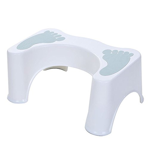 HYP-Toilet Stool Bathroom Stool for Better and Healthier Results Most Ergonomic Anti - constipation toilet seat paddle club bathroom thick plastic toilet toilet adult pregnant children?light (Club Footstool)