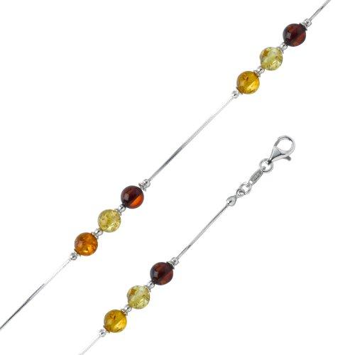 Nature d'Ambre - 3180451 - Bracelet Femme - Argent 925/1000 - Ambre - 20 cm