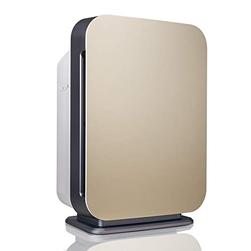 Alen BreatheSmart 75i Large Room Air Purifier, 1300 Sqft. Coverage Area, Antimicrobial True HEPA Filter, for Smoke, VOC's, Cooking Odors, Chemicals, Dust, Pollen, Dander and Fur, Brushed Champagne