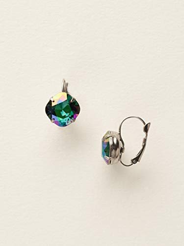 Sorrelli Single Drop Crystal Earring, Green, 1