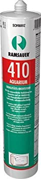 Ramsauer 410 Aquarium schwarz 1K Silikon Dichtstoff 310ml Kartusche