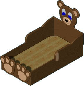 Tedd E. Bed- Woodworking Plans with Full Scale Curves (Crib-Size)