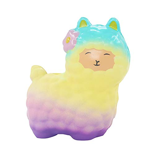 Theshy Squeeze Cute Sheep Alpaca Super Slow Rising Scented Fun Animal Toys Fidget Toy for Kids and Adult -