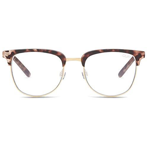 Quay Australia Men's Evasive Glasses, Tort/Clear Blue Light Lens, One ()