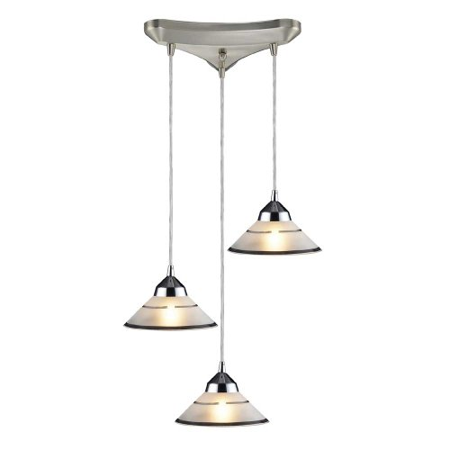ELK Lighting Refraction Polished Chrome 3-Light Pendant Light 1477/3