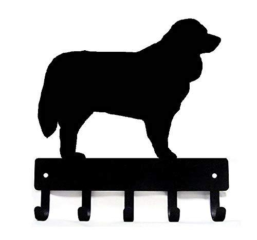 The Metal Peddler Bernese Mountain Dog Key Rack Dog Leash Hanger Large 9 inch Wide Bernese Mountain Dog Collars