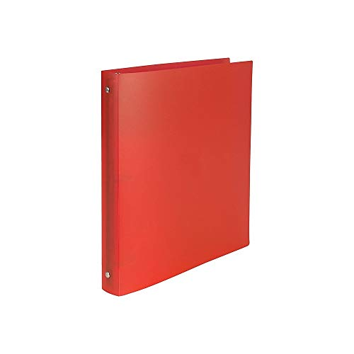 Staples 702568 1/2-Inch Simply Poly Binder with Round Rings Red