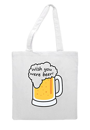 Beer White Wish Were Tote Themed You Alcohol Statement Bag Shopper vTEzqBw
