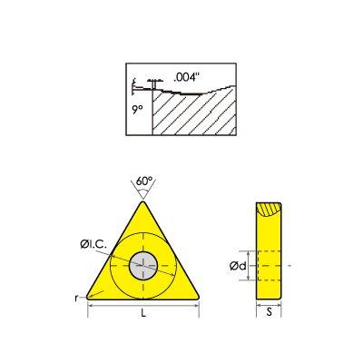 HHIP 6002-0332 TNMG//DM Triangle Negative Rake Carbide Insert 3//8 IC.0315 Radius