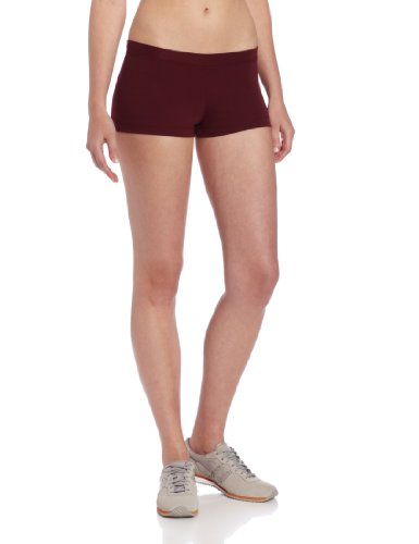 Capezio Women's Low Rise Boy Cut Short,Maroon,Small