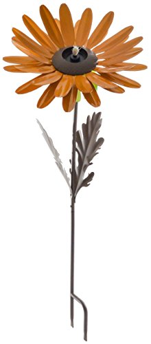 Desert Steel Orange Daisy Garden Torch