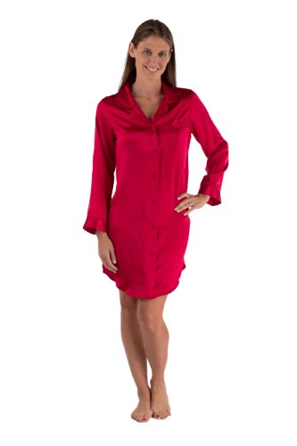 TexereSilk Women's Elegant Silk Sleep Shirt (Dream Fest) Eco-Friendly Gifts