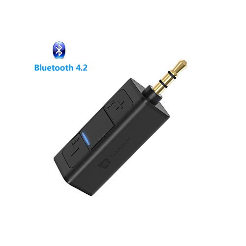 Bluetooth Aux Adapter 4.2, TekHome Bluetooth Auxiliary Adapter for Car Headphones, Aux Bluetooth, Mini Bluetooth Receiver for Car, Bluetooth Audio Connector, Bluetooth Converter for Car Home Stereo. by TekHome