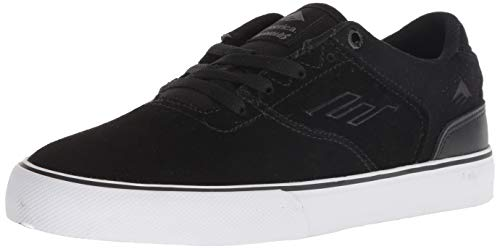 Emerica Boys' The Reynolds Low Vulc Youth Skate Shoe, Black/White/Gum, 3c Medium US Big Kid