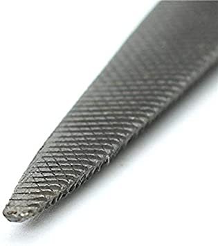 Sepikey 8 Inch Half Round Wax Carving File Carbon Steel Double Ended Flat