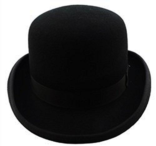 James Bond Costumes For Women (100% Wool Felt Derby Bowler Hat Black)