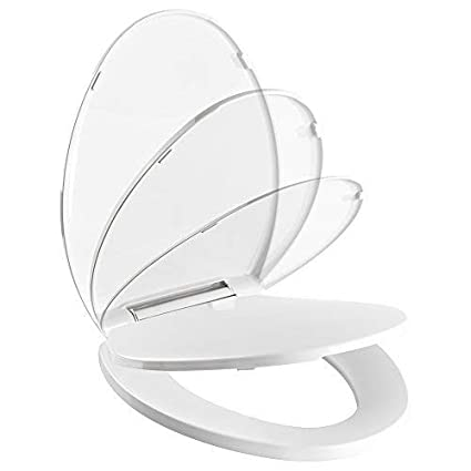 Bellingham Elongated Soft Close Toilet Seat Pacific Bay (White)   Beautiful And Sturdy Addition To Any Bathroom by Pacific Bay