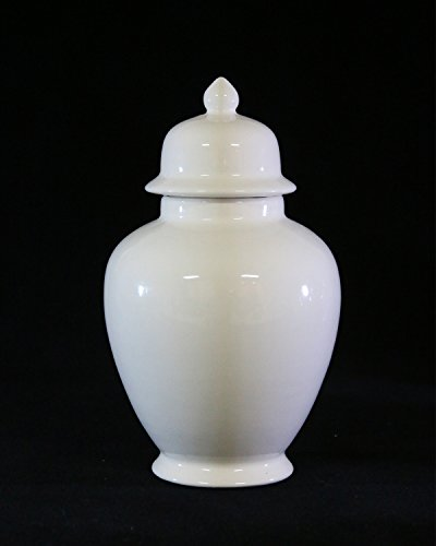 Handcrafted Ceramic Urn - Ivory -113 cu in - Various Colors and Sizes Available, Cremation Urn for Ashes, Pet Urn by Richland Pet Cremation & Memorials