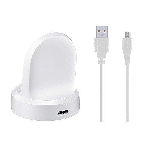 (Emilydeals Gear S3 Charger, Gear S3 Smart Watch Charging Cradle Dock for Samsung Gear S3 Classic/Frontier Smart Watch (White))