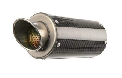 17-18 SUZUKI SV650: Hotbodies Racing MGP Growler Slip-On Exhaust (Carbon Fiber With Rolled Tip)