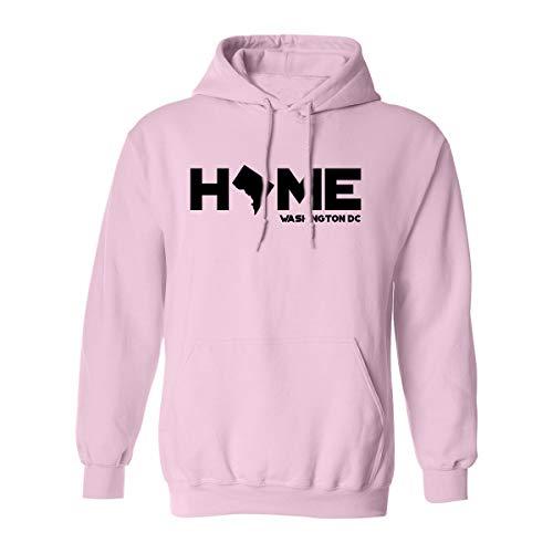 Washington DC Home Adult Hooded Sweatshirt in Pink - XX-Large (Hoodie Dc Pink)