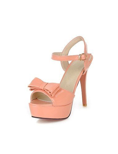 ShangYi Women's Shoes Patent Leather Stiletto Heel Slingback Sandals Dress More Colors available Pink fz6nUKa