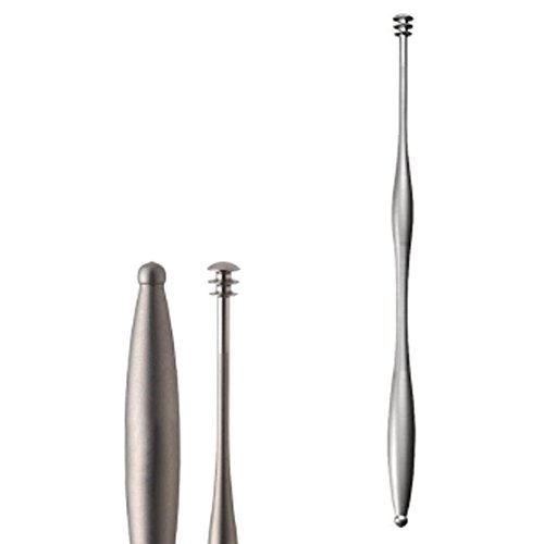 BoxCave MARUTO Titanium Earpick Ear Cleaner Curette Earwax Removal Earwax Remover Ti EP-901 Ear Pick with BoxCave Microfiber Cleaning Cloth