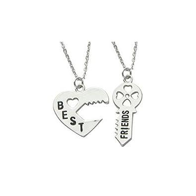 Best friends pendant necklaces silver heart key best friend best friends pendant necklaces silver heart key best friend necklace mozeypictures Choice Image
