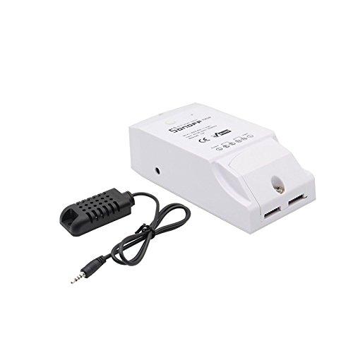 Ils TH16 DIY 16A 3500W Smart Home WiFi Temp/érature sans Fil Humidit/é Thermostat Module APP Prise de Contr/ôle /à Distance de linterrupteur avec AM2301 Temp/érature et dhumidit/é du capteur