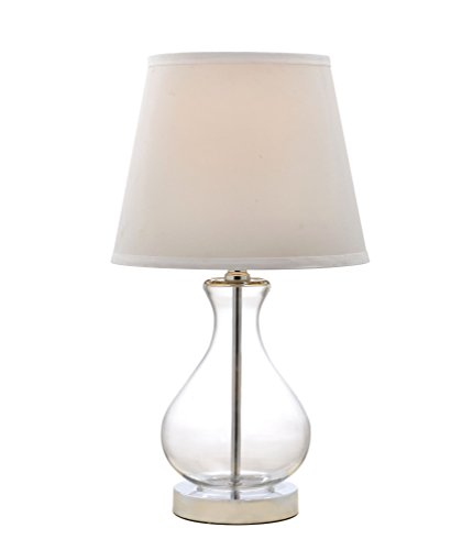 - Catalina Lighting 19896-001 Teardrop Glass Table Lamp with with Linen Shade, 18