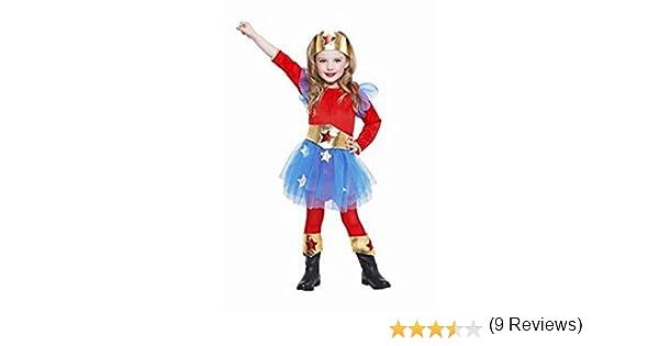 DISFRAZ SUPERHEROINA TALLA 3-4 AÑOS TAMAÑO INFANTIL: Amazon.es: Juguetes y juegos