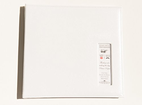 Album Photo Book Guest (Photo Booth Album Photo Booth guestbook with picture display white 12x12 scrapbook white pages)