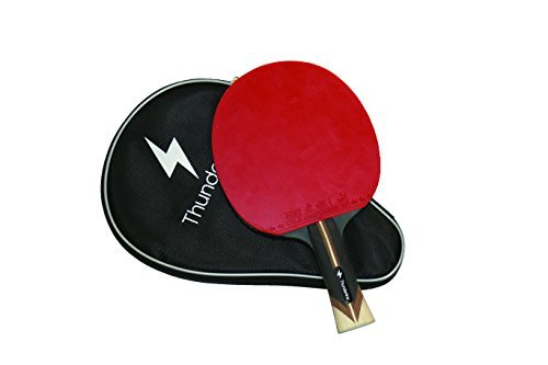 Thunderline 6 Star Premium Ping Pong Paddle - Bonus Professional Case - Advanced Table Tennis Racket - ITTF Approved Rubber
