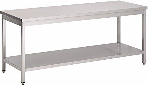 Saro 221 – 1100 mesa de trabajo, acero inoxidable, Greta, 1000 mm ...
