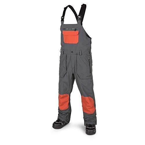 (Volcom Men's Rain GTX Bib Snow Overall Pant, Vintage Black, Small)